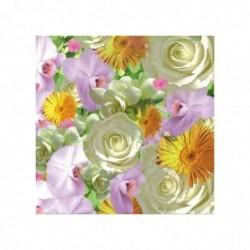 """PAPSTAR paquet de 20 Serviettes à motifs """"Springflowers"""", 330 x 330 mm"""