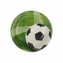 "PAPSTAR Lot de 10 Assiettes Carton Diam 23 cm Motif ""Football"""