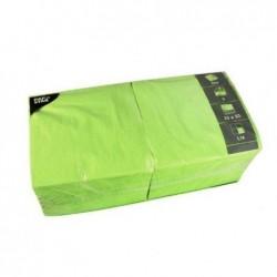 PAPSTAR Lot de 250 serviettes 330 x 330 mm triple épaisseur Vert pomme