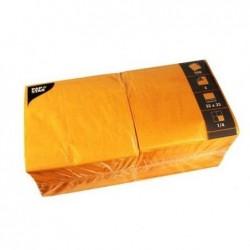 PAPSTAR Lot de 250 serviettes 330 x 330 mm triple épaisseur Orange