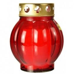 PAPSTAR Lanterne en verre, diamètre: 110 mm, rouge
