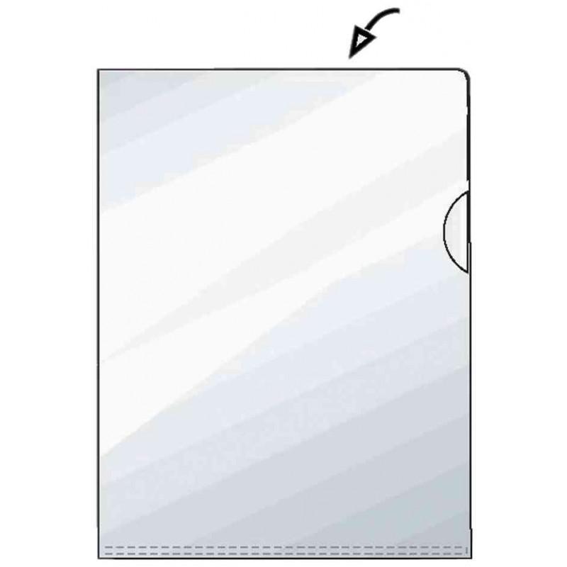 HETZEL Lot de 50 Premium pochettes coin transparentes A4 grainé