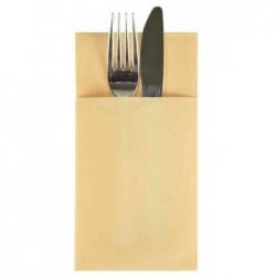 PAPSTAR paquet de 50 pochettes serviettes, 1/6 pli, crème