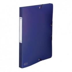 ELBA Chemise 3 rabats et élastique Memphis dos formé 2,5 cm polypropylène 7/10e bleu