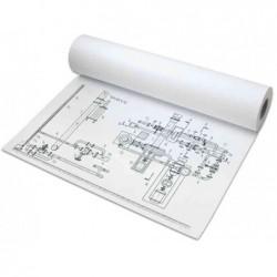 PAPYRUS Rouleau de papier Traceur Jet d'encre 80g L 61 cm x 50 m Blanc