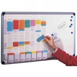 OBO Office T-Board 8 colonnes 24 fentes inclus 700 fiches T2 100 fiches T1 6 punaises magnétiques 2 marqueurs effaçables à s...