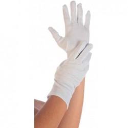 """FRANZ MENSCH paire de gant en coton """"BLANC"""" HYGOSTAR, Blanc, taille M"""