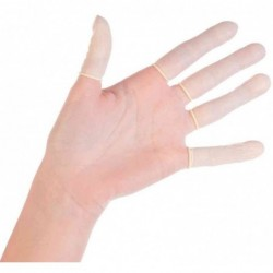 FRANZ MENSCH Boite de 100 Gants pour doigts en latex HYGOSTAR M 70 mm Blanc