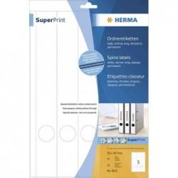 HERMA Superprint étiquettes pour classeur, 192 x 38mm, court, blanc