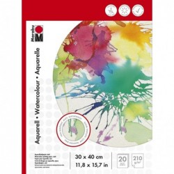 MARABU Bloc aquarelle 300 x 400 mm, 210 g/m2, 20 feuilles