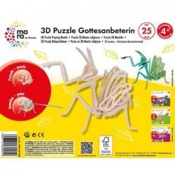 MARA BY MARABU Puzzle 3D à peindre 25 pièces Mante religieuse 4 ans +