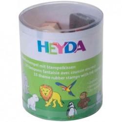 "HEYDA kit de timbres à motifs ""aminaux de zoo"""