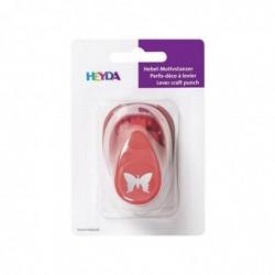 HEYDA Perforateur à motif papillon, petit, couleur: rouge