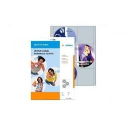 HERMA pochette CD/DVD, PP, classable, 145 x 135 mm