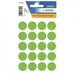 HERMA Etui 100 étiquettes multi-usages Ronde 19 mm Vert fluo