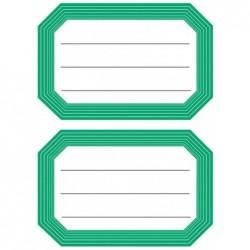 HERMA Etiquettes pour livres, 82 x 55 mm, bord vert, 6x2 etiq.