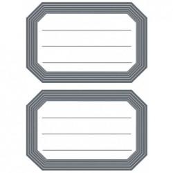 HERMA Etiquettes pour livres, 82 x 55 mm, bord gris, 6x2 etiq.