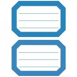 HERMA Sachet de 12 étiquettes 82 x 55 mm pour livres et cahiers Cadre bleu