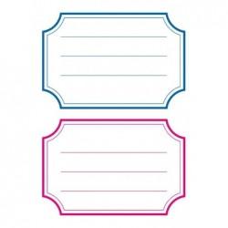 HERMA étiquettes pour livres, 78 x 53 mm, marge bleu / rouge, 6x2 etiq.