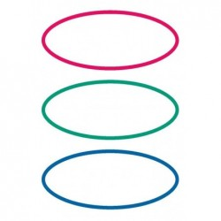 HERMA étiquettes pour livres, forme ovale, rouge / vert / bleu, 6x3 etiq.