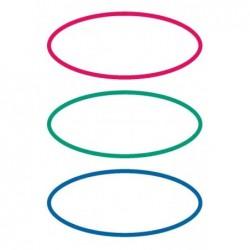 HERMA paquet de 18 étiquettes pour livres, forme ovale, rouge / vert / bleu