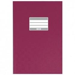 HERMA 1x protège-cahiers, format A4, en PP, couverture bordeaux