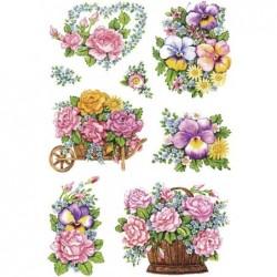 """HERMA sticker DECOR """"pots de fleurs nostalgiques"""" 3 feuilles de 8"""