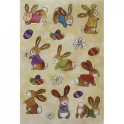 """HERMA Stickers de Paques MAGIC """"lapereau"""", soie"""