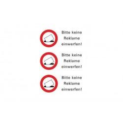 """HERMA Hinweisetiketten """"Bitte keine Reklame einwerfen"""""""