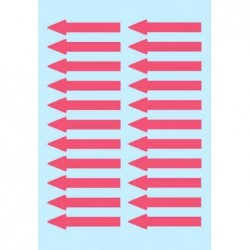 """HERMA Etiquettes messages """"flèches"""", 38 x 7mm,rouge brillant, pqt 88"""