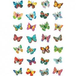 """HERMA Autocollants MAGIC """"papillons"""", 28 sticks sur feuille 85x120mm"""
