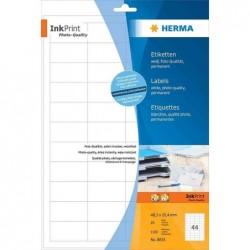HERMA étiquettes InkPrint Special pour jet d'encre, blanc, 96x139,7mm, 400 sur 100F A4