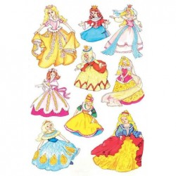 "HERMA sticker DECOR ""Princesses"" 3 feuilles de 9"