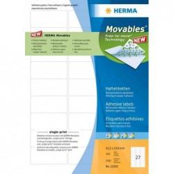 HERMA Etiquettes universelles SPECIAL, 88,9 x 46,6 mm, blanc
