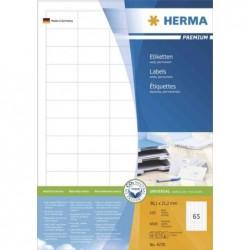 HERMA Etiquettes universelles PREMIUM, 64,6 x 33,8 mm, blanc