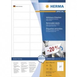HERMA Étiquettes universel extraordinaire, 99,1 x 93,1 mm blanc