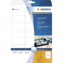 HERMA Etiquettes brillantes SPECIAL, 199,6 x 143,5 mm, blanc