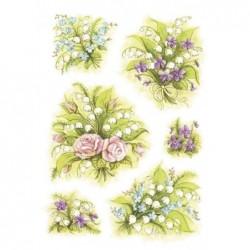 """HERMA Autocollant de décoration """"Bouquet de muguets"""" 3 x 6 etiquettes"""