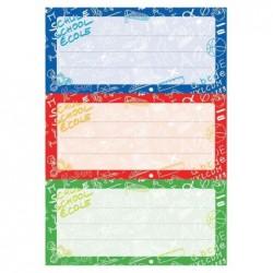 """HERMA Etiquettes pour livres """"Ecoles"""", 76 x 35 mm 3 Planches de 3"""