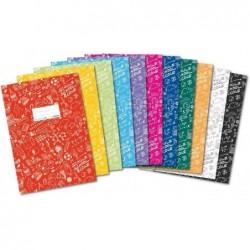 HERMA Protège-cahier Schoolydoo A4 polypro avec etiquette Noir