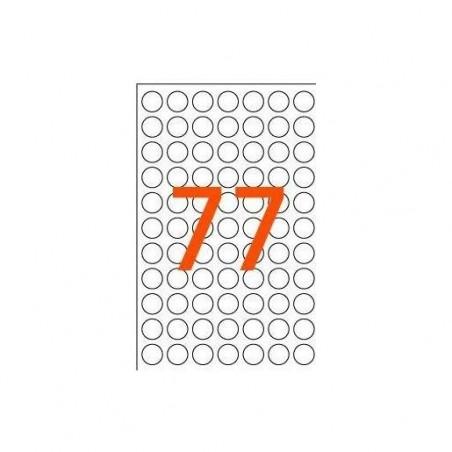 AGIPA Sachet de 462 étiquettes Gommettes de signalisation Rondes 8 mm Orange