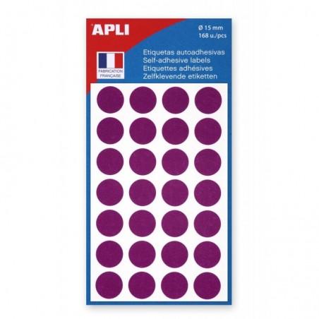 AGIPA Sachet de 168 étiquettes Gommettes de signalisation Rondes 15 mm Violet