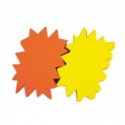 AGIPA Pqt de 50 Etiquettes de Signalisation ETOILE Jaune /orange 120x160 mm