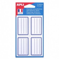 AGIPA Pochette de 32 étiquettes scolaires  36 x 56 mm
