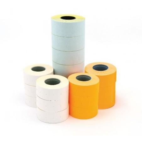 AGIPA Lot 6 rouleaux de 1000 étiquettes adhésif permanent  21 x 12 mm