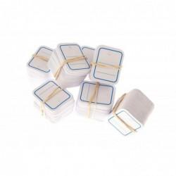 AGIPA Boite de 1000 étiquettes textiles 39 x  55 mm Cadre Bleu