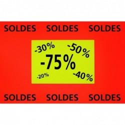 AGIPA Paquet de 10 rectangles fluo effaçable à sec  21 x 29,7 cm
