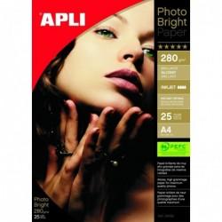 APLI Pochette 25 feuilles papier photo PEFC   210 x 297 mm