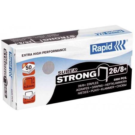RAPID Bte de 1000 Agrafes Super Strong 26/8+ Galvanisées