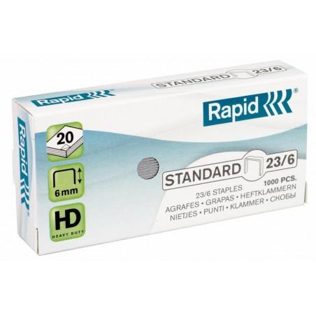 RAPID Boite de 1000 agrafes galvanisées Standard 23/6